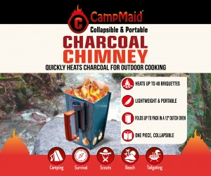 Gear Review for CampMaid Charcoal Chimney by Mike Shouts