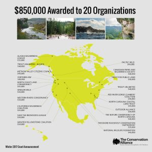 The Conservation Alliance Contributes $850,000 in Grants to  20 Organizations