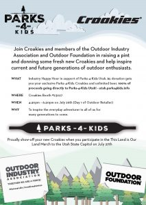 Croakies Announces Industry Happy Hour at Outdoor Retailer in Support of Parks4Kids Utah