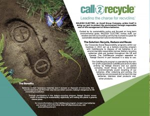 Raleigh Electric & IZIP Reduce Eco-Footprint Through Call2Recycle Partnership