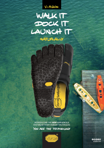 Vibram® FiveFingers® Introduces Flagship V-Aqua for Performance on Land and Water