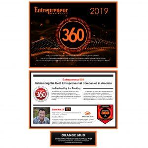 Orange Mud, LLC makes the Entrepreneur 360 list for 2019, by Entrepreneur Magazine