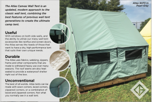 Diamond Brand Gear Elevates the Camping Experience with the New Atlas Canvas Wall Tent