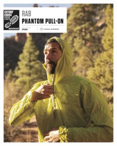 Rab's New Phantom Pull-On Lands Backpacker Magazine's  Editors' Choice Award