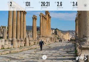 iFit Connected Fitness Now Streaming Jordan Walking Tour Series